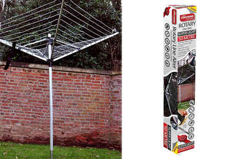 Home Season - 4 Arm Rotary Washing Line with Cover and Ground Socket - Save 50%