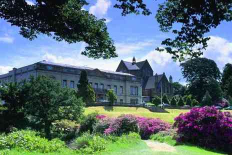 Shrigley Hall Hotel - Four Star Overnight stay in a Standard room with three course dinner, glass of Prosecco, breakfast and spa treatment each - Save 39%