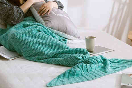 Marcus Emporium - Mermaid Tail Blanket Available in 7 Colours - Save 67%