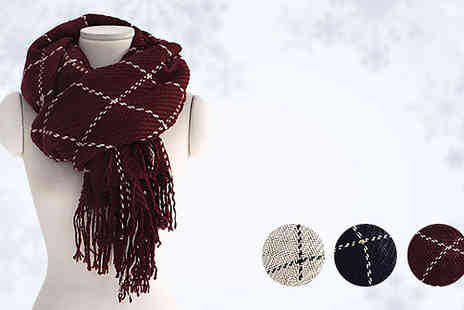 Marcus Emporium - Oversized Check Scarf Choose From 4 Colours - Save 65%