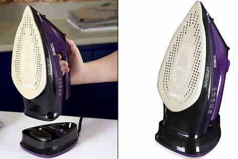 Smart Retail Goods - Tower 2 in 1 Cordless Steam Iron with Ceraglide Nano Coated Soleplate - Save 63%