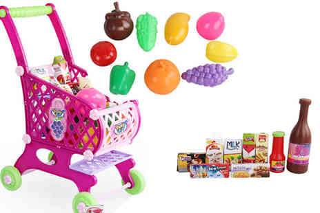 Direct 2 public - 46 Piece Kids Toy Shopping Cart - Save 50%