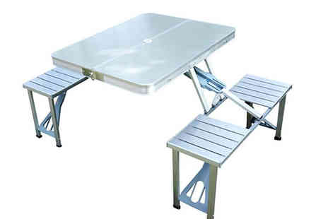 Mhstar - Portable Picnic Table And Chair Set - Save 57%