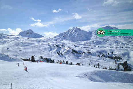 Weekender Breaks - Seven night French Alps ski adventure with welcome drink, six day ski pass and flights - Save 32%