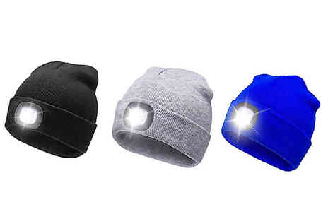 Home Season - Rechargeable Led Headlight Beanie Hat Choose from 3 Colours - Save 50%