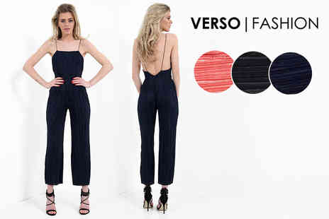 Verso Fashion - Pleated jumpsuit choose from three colours - Save 72%
