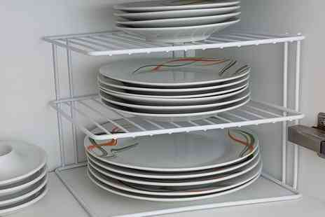 Groupon Goods Global GmbH - Up to Four Three Tier Corner Plate Racks - Save 67%