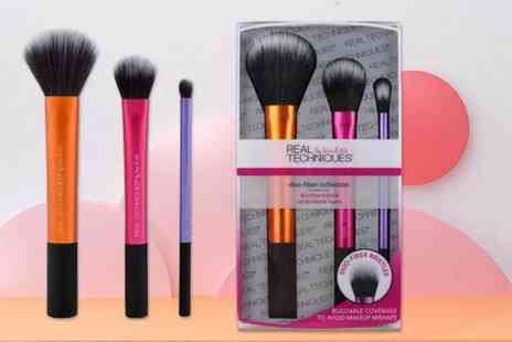 Deals Direct - Set of Real Techniques duo fibre makeup brushes - Save 38%