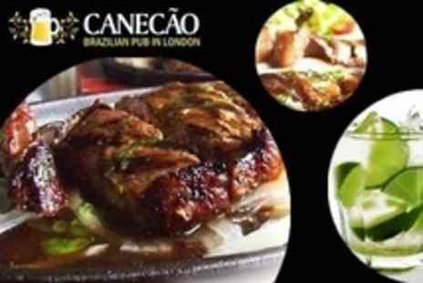 Canecao - Three Course Brazilian Meal For Two - Save 54%