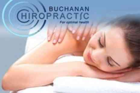 Buchanan Chiropractic - Chiropractic: Three Sessions Plus Consultation and Educational Class for £39 at Buchanan Chiropractic - Save 0%