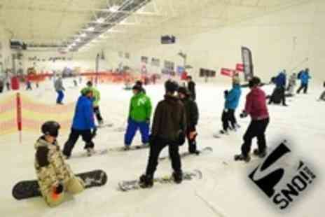 SNO!zone Milton Keynes - Skiing or Snowboarding Beginner Group Lesson for Two - Save 60%