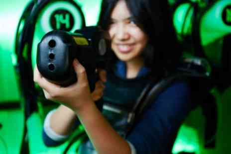 Quasar Elite - 20 Minute Games of Laser Tag for Up to Six - Save 50%