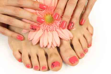 Depilex Beauty Studio - Shellac Mini Manicure, Mini Pedicure or Both - Save 50%