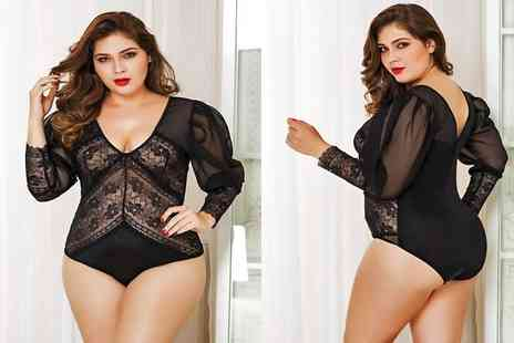 GameChanger Associates - Black long sleeve lace plus size body - Save 67%