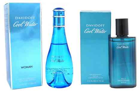 Groupon Goods Global GmbH - Davidoff Coolwater 75ml or 100ml Deodorant Spray for Men or Women - Save 40%
