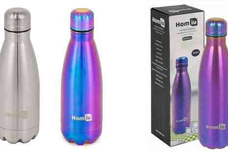 Groupon Goods Global GmbH - Homiu Stainless Steel Drinks Bottles in Choice of Colour - Save 65%