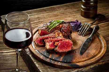 Two-Ten Restaurant & Bar - Two course steak dining for two people with a side and glass of house wine each - Save 54%