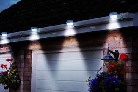 Home Season - Set of 2 or 4 Solar Powered White Gutter Lights - Save 70%