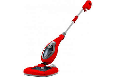 Groundlevel - 20 in 1 High Powered Steam Mop with Detergent Release and Telescopic Handle - Save 78%