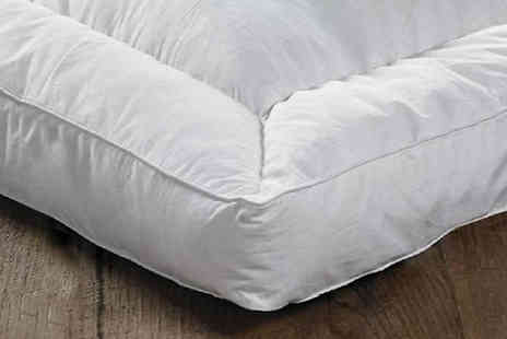Direct Warehouse - 12.5cm Goose Feather and Down Mattress Topper Choose From 5 Sizes - Save 88%