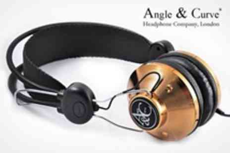 Headphone Gold - Angle and Curve Mark-2 Headphones: One (£28.99) or Two (£56) Pairs In a Choice of Colours (Up to 53% Off) - Save 52%