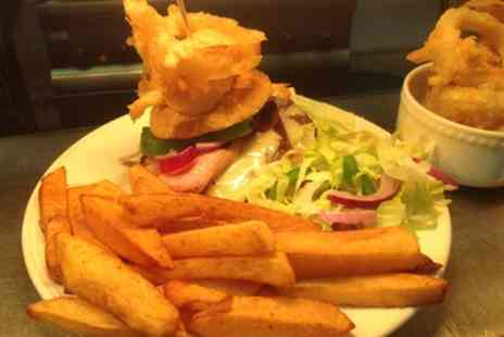 Bank House Hotel - Burger Meal for Two or Four - Save 35%