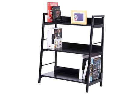 Mhstar - 3, 4 or 5 Tier Leaning Ladder Bookshelf - Save 62%