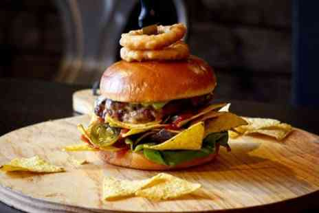 Big Mans Foods - Choice of Burger, Wacky Dog or Wrap with Chips and Soft Drink for Two or Four - Save 37%