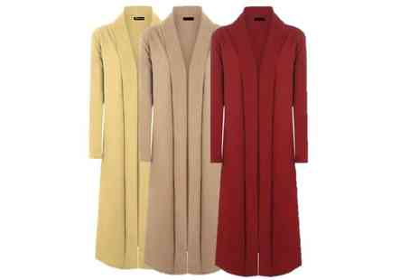 Verso Fashion - Lightweight trench cardigan choose from seven colours - Save 67%