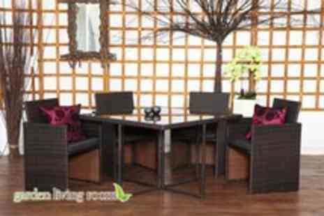 Garden Living Room - A Classic 4 piece rattan furniture set - Save 64%