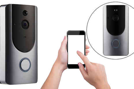Black Sheep - Three in One Smartphone Connected Video Doorbell With Intercom And Battery Choose 16Gb or 32Gb SD Card - Save 84%