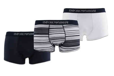 Brands Store - Set of 3 Emporio Armani boxers - Save 49%