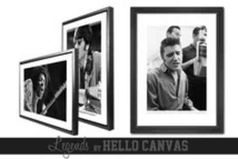 Hello Canvas - Large Limited Edition Legend Canvas Print in Floating Frame Including Delivery from £79 (Up to 53% Off) - Save 50%