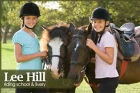 Lee Hill Riding School - Childrens One Day Horse Riding Camp at Choice of Location - Save 33%