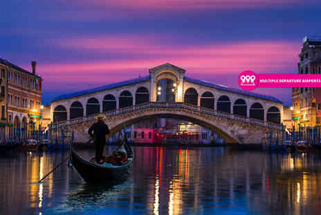 Weekender Breaks - Two nights Venice city break with breakfast and return flights - Save 42%