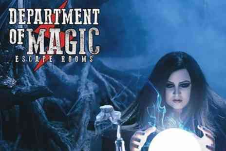 Department of Magic - Escape Room Game for Up To Five - Save 30%