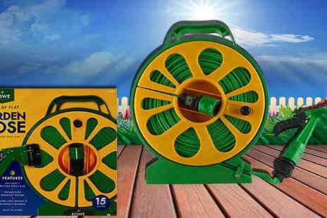 Shop Monk - 50ft Flat Hose With Reel and Seven Style Spray Gun - Save 67%