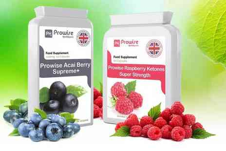 Prowise Healthcare - 2mnth supply of acai berry and 1mnth supply of raspberry ketones - Save 0%
