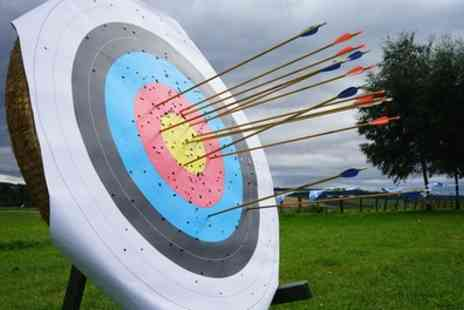Great Away Days - One Hour Archery Session for Up to Four or Highland Games for Two - Save 36%
