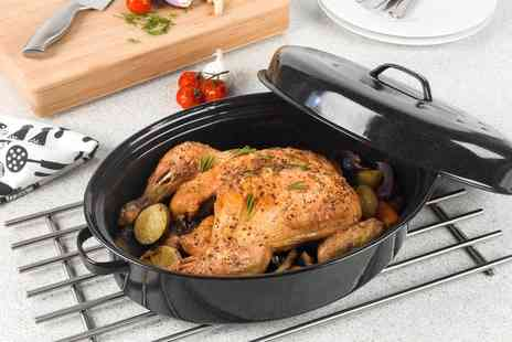 Groupon Goods Global GmbH - Russell Hobbs CW11491 Vitreous Enamel Self Basting Roaster with Lid - Save 0%