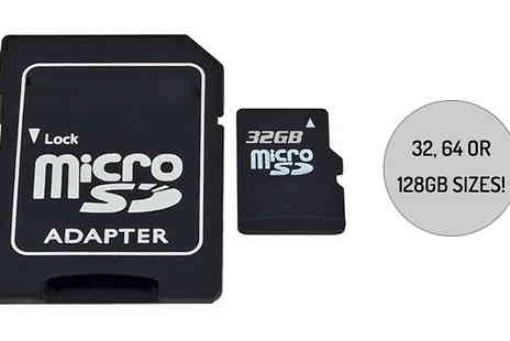 Impress Gadgets - Ultra Micro Sd Memory Card with Adaptor Choose 32, 64 or 128Gb - Save 70%