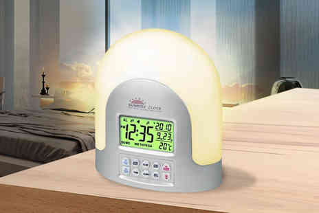 Zoozio - Led sunrise alarm clock - Save 76%