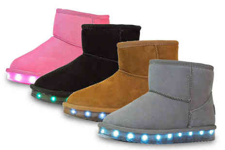 Flashez - Pair of soft wool Led boots - Save 68%