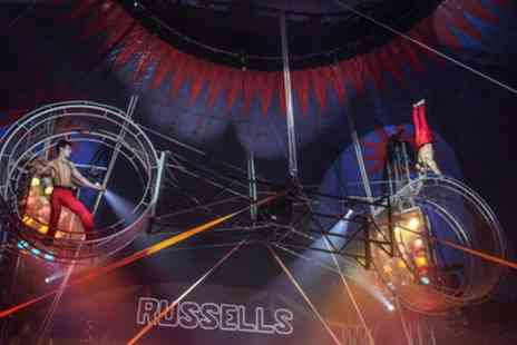 Russells International Circus - Two or five tickets to Russells International Circus on 27 To 31 March 2019 - Save 64%