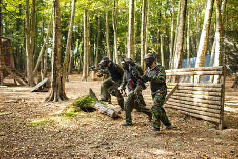 Virgin Experience Days - Full Day Paintballing for Four - Save 0%