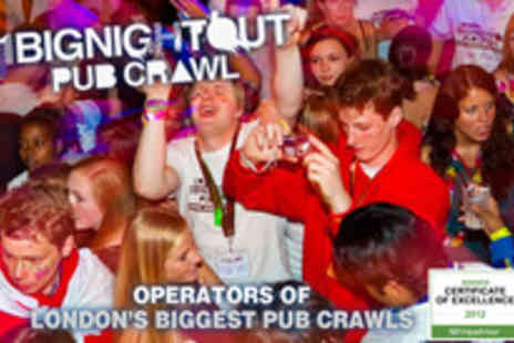 1 Big Night Out - Become one of the party people with admission to London�s biggest pub crawl - Save 50%