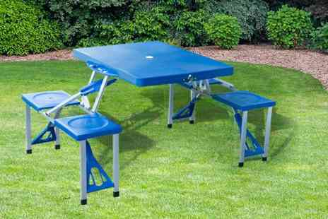 Mhstar - Four person folding camping table choose from four designs - Save 51%