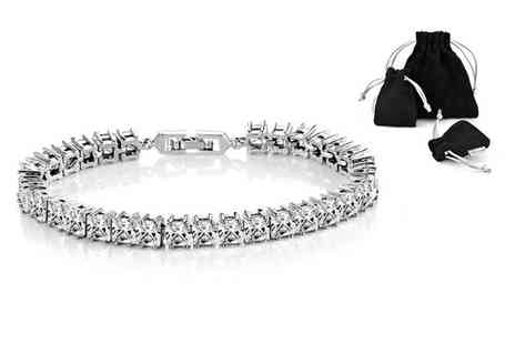 Philip Jones - Princess bracelet made with cubic zirconia - Save 81%