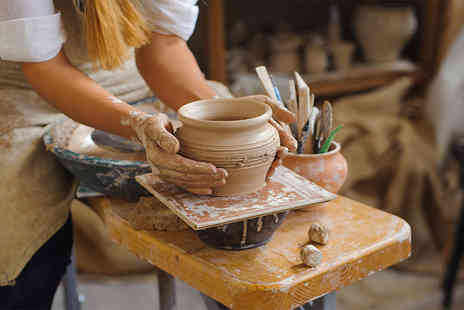 Midas Touch Crafts - Two hour pottery workshop for one person - Save 81%
