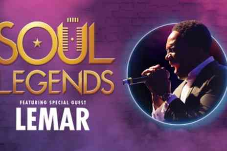 Soul Legends - One best available Band A ticket to Soul Legends ft Lemar on 6 February - Save 45%